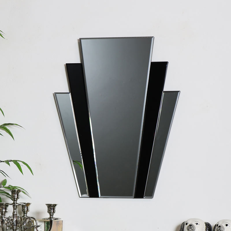 Decorative Art Deco Fan Wall Mirror