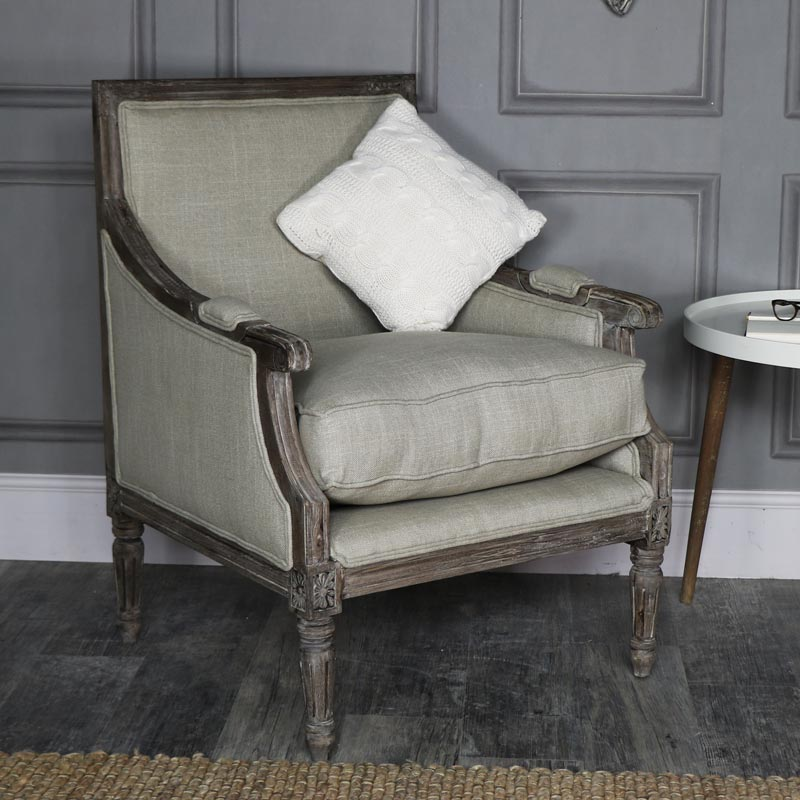Rustic Upholstered Armchair