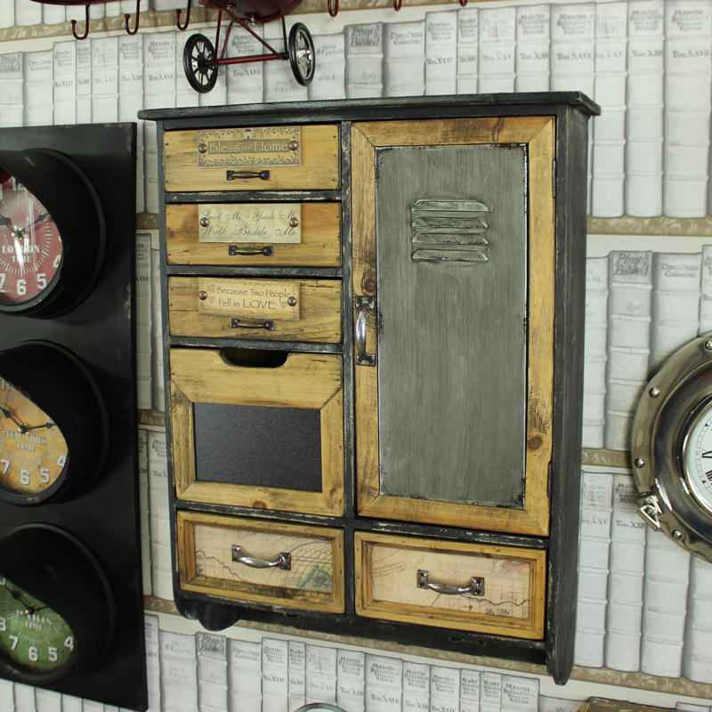 Wooden Multi Drawers Wall Cabinet