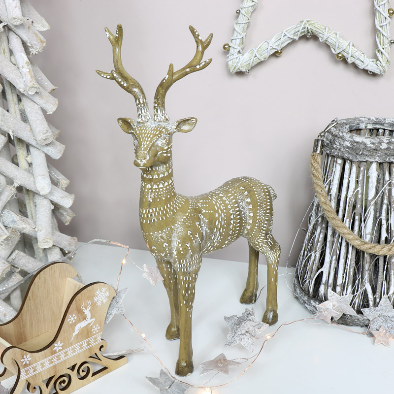 Patterned Stag Ornament