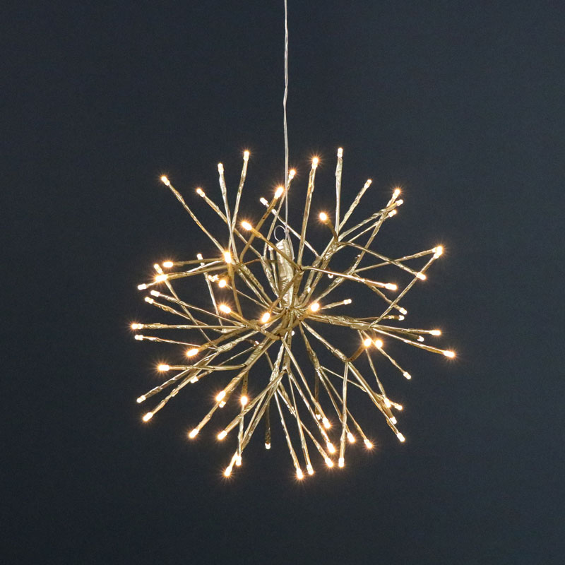 Gold LED Star Christmas Lights