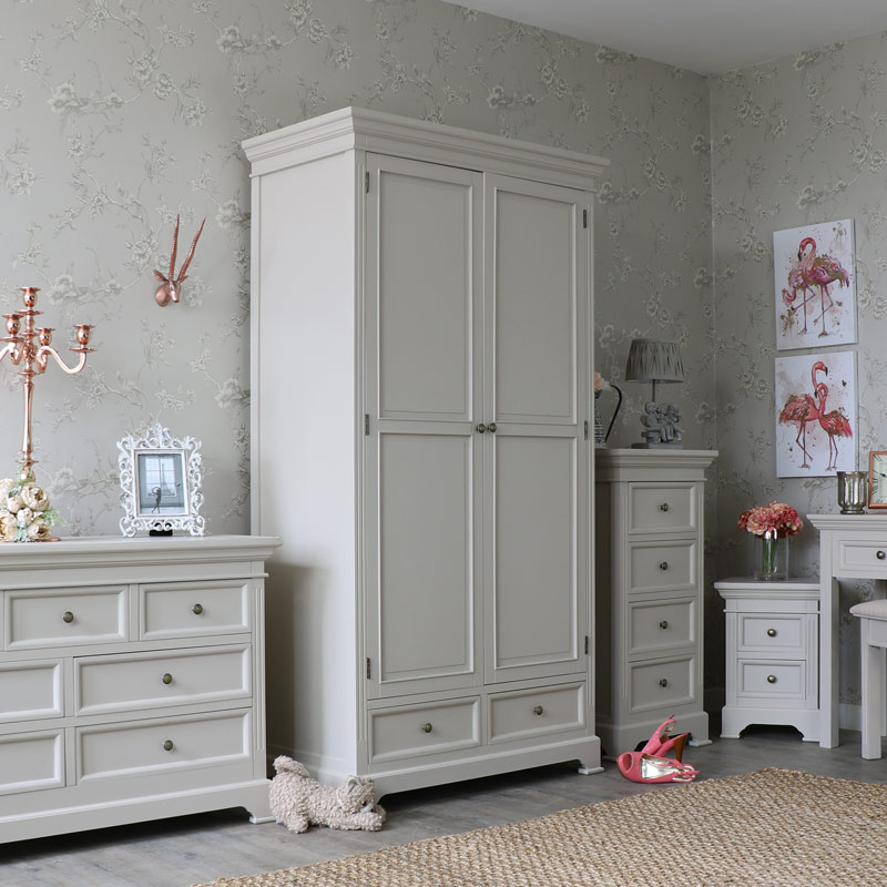 Daventry Range - Grey Double Wardrobe