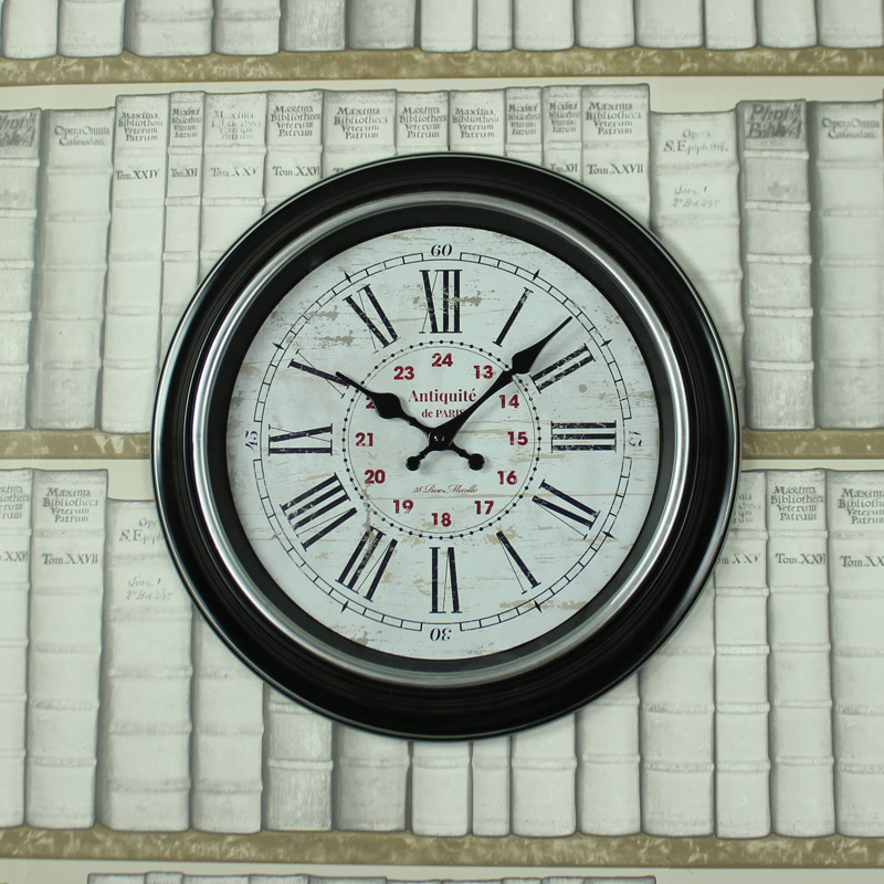 Large Black Antique style Wall Clock
