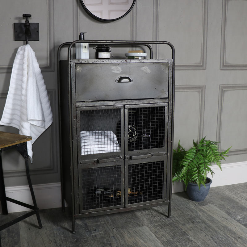 Industrial Mesh Fronted Storage Cabinet
