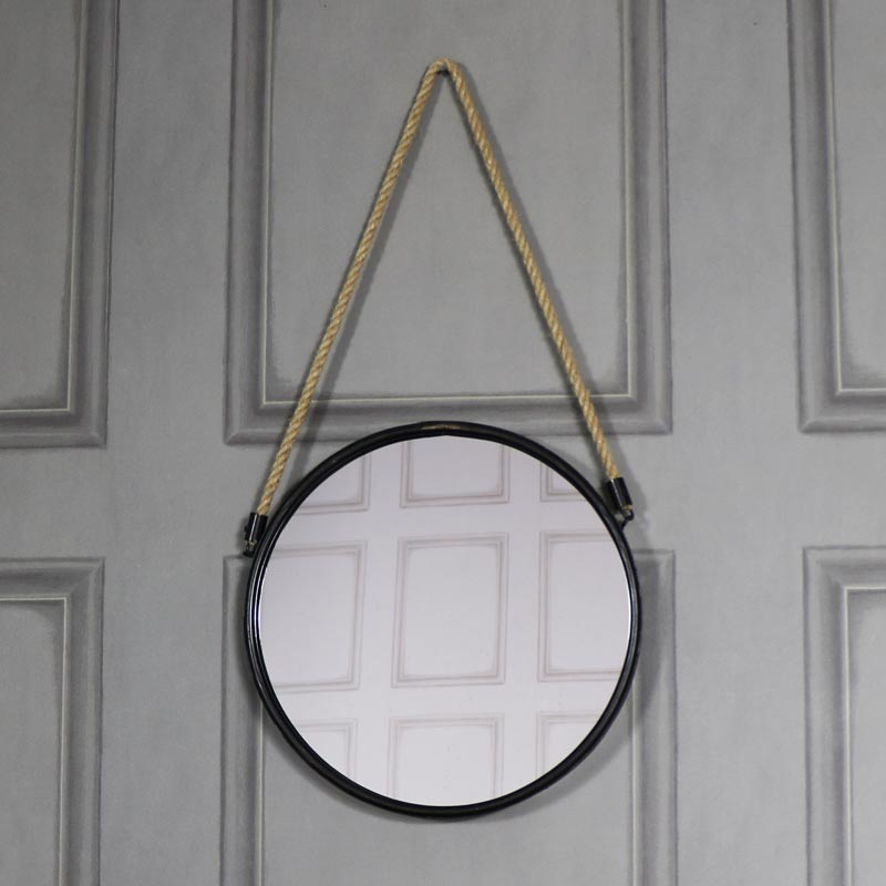 Large Black Rustic Wall Mirror