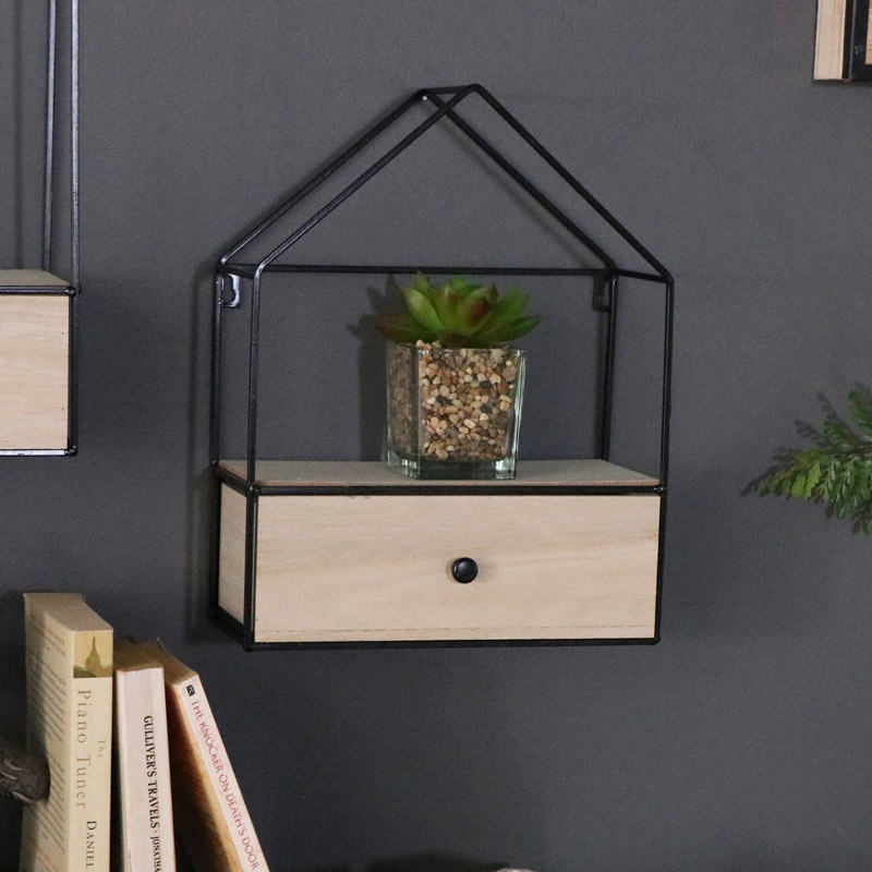 House Shape Wall Unit with Drawer Storage
