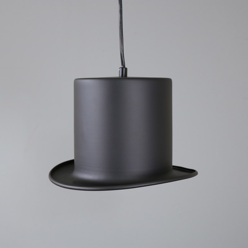 Black Top Hat Pendant Light