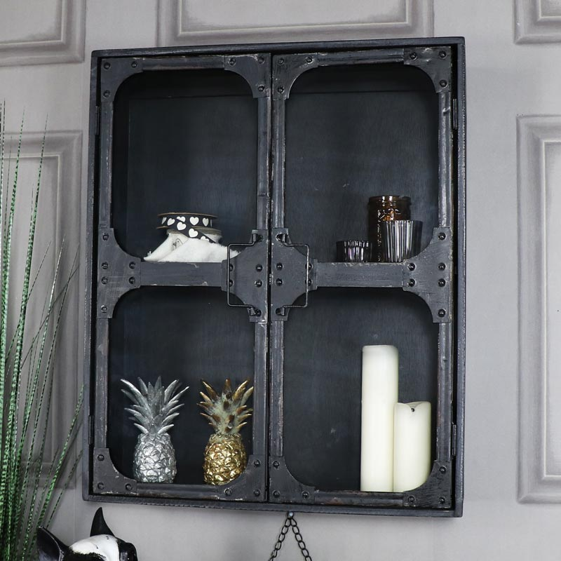 Large Retro Industrial Style Wall Cabinet
