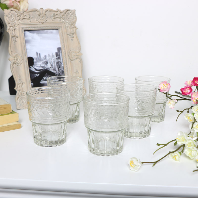 Set of 6 Tumbler Glasses
