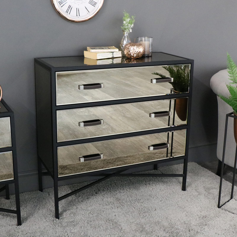 quite nice 415b1 ae07f Smoked Copper Mirrored Chest of Drawers - Vico Range