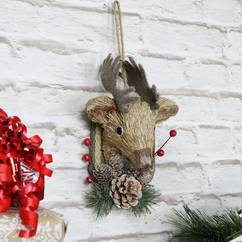 Bristle Wall Mountable Stag Head