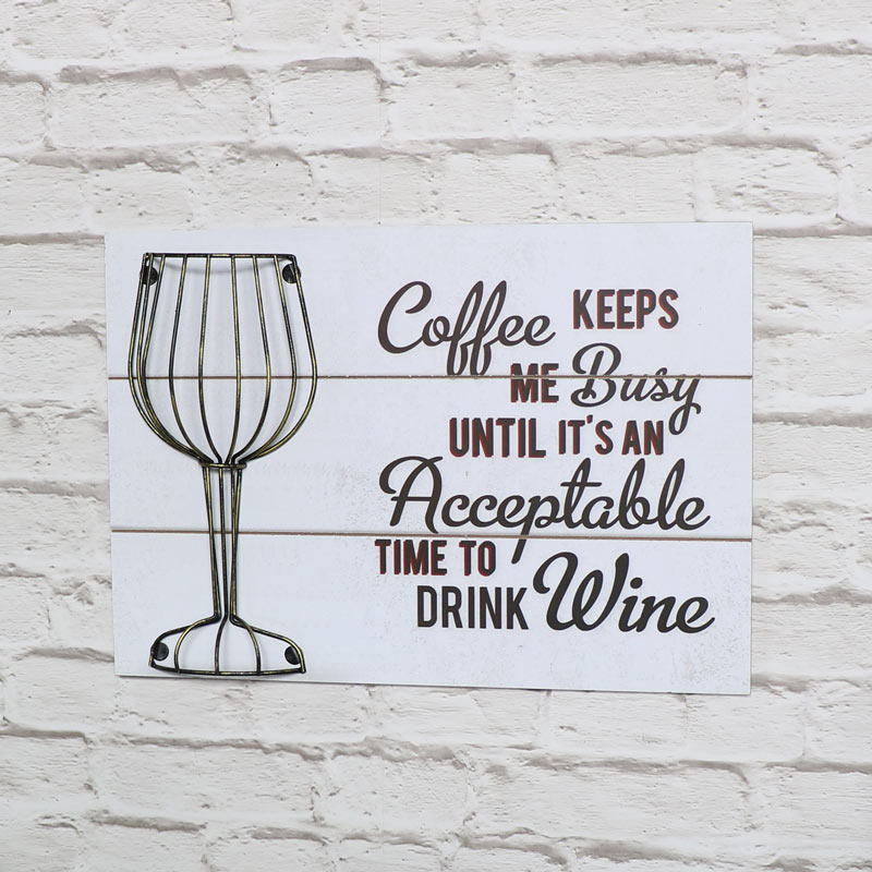 Humorous Wine Quote White Wall Plaque Cork Holder