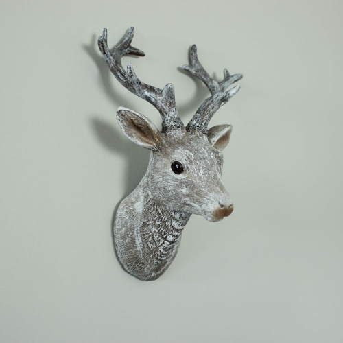 Grey Wall Mounted Stag Head