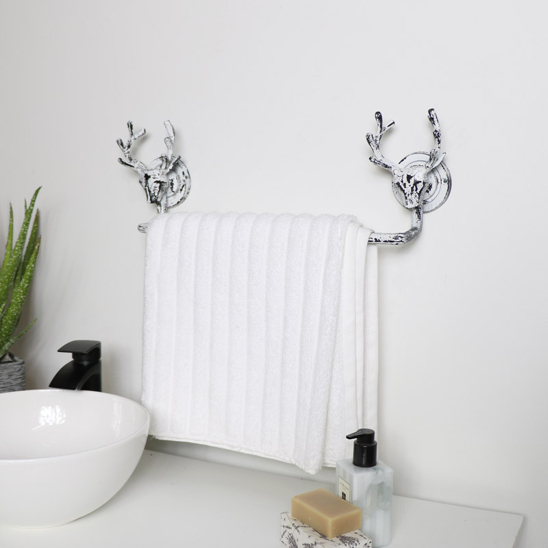 Antique White Stag Towel Rail