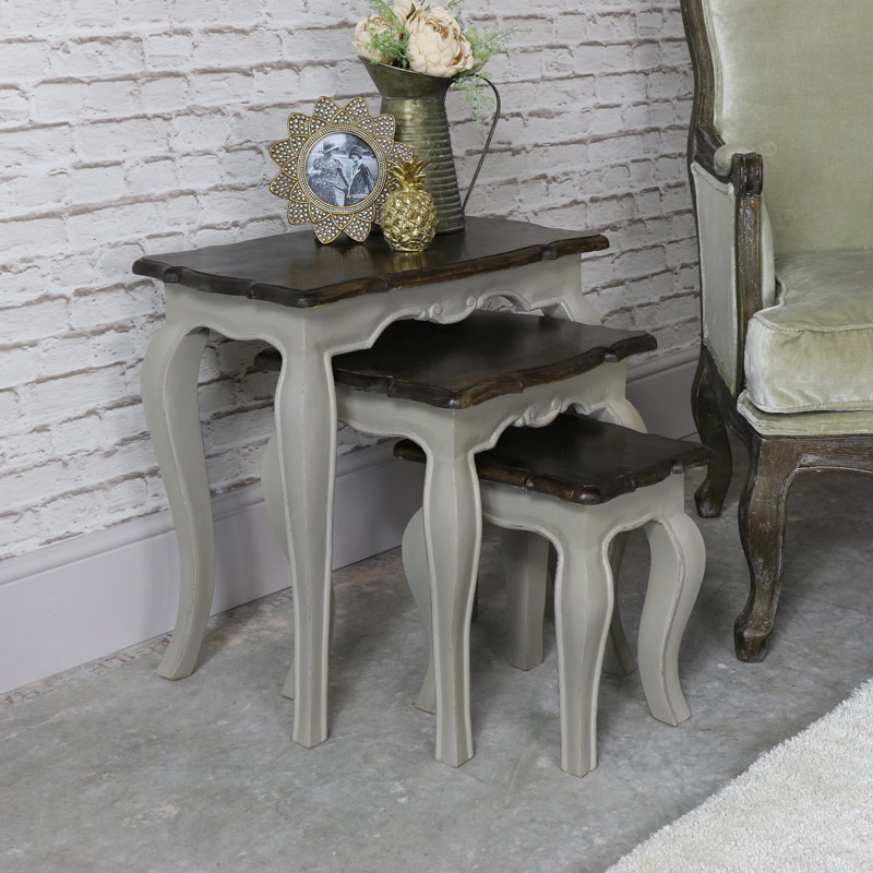 Nest of 3 Tables Vintage Grey - Leadbury Range