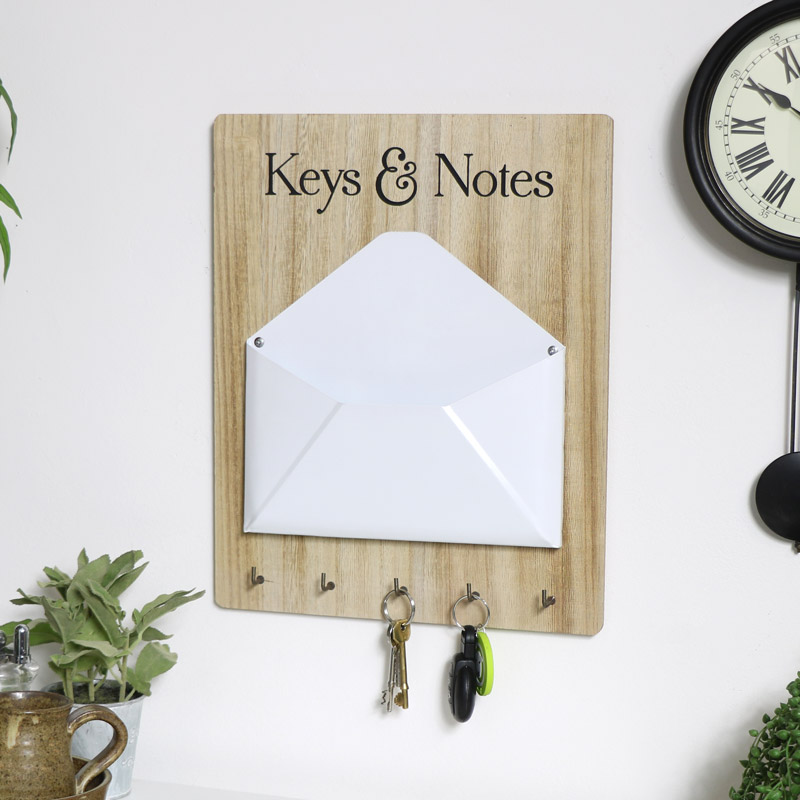 Wall Mounted Keys & Letter Holder