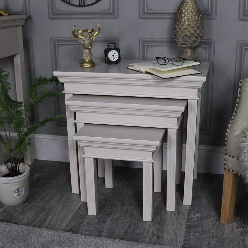 Nest of 3 Tables – Daventry Taupe-Grey Range