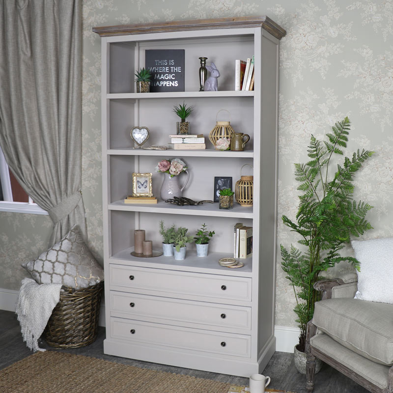 Large Bookcase with Drawer Storage - Cotswold Range