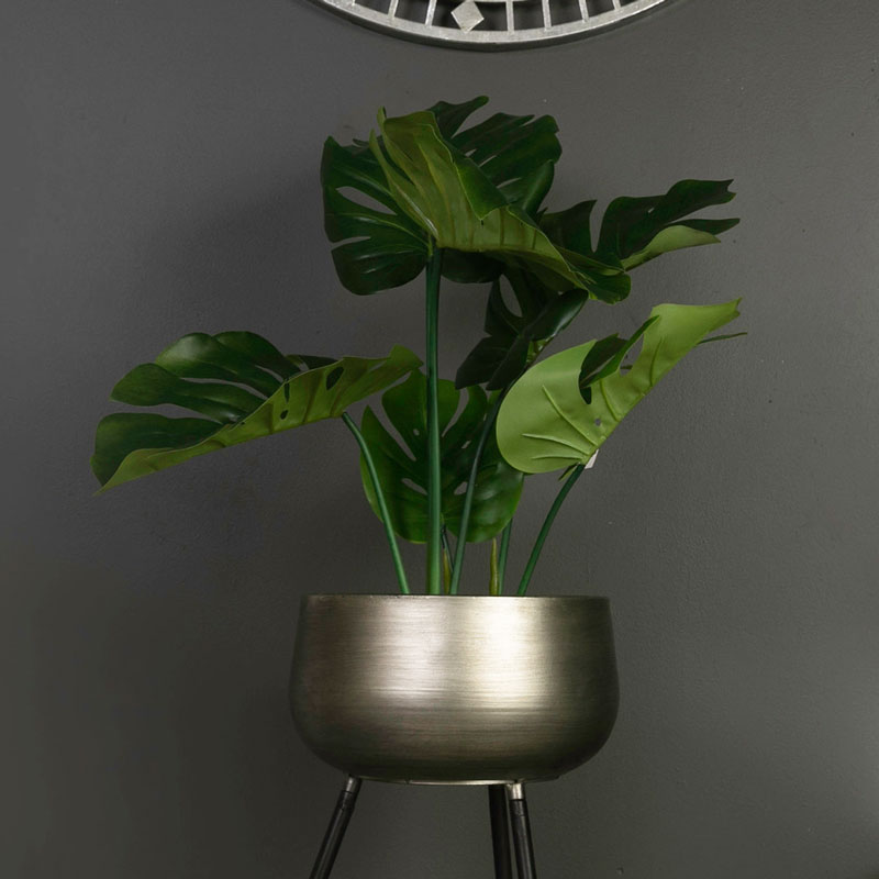 Potted Artificial Monstera Plant