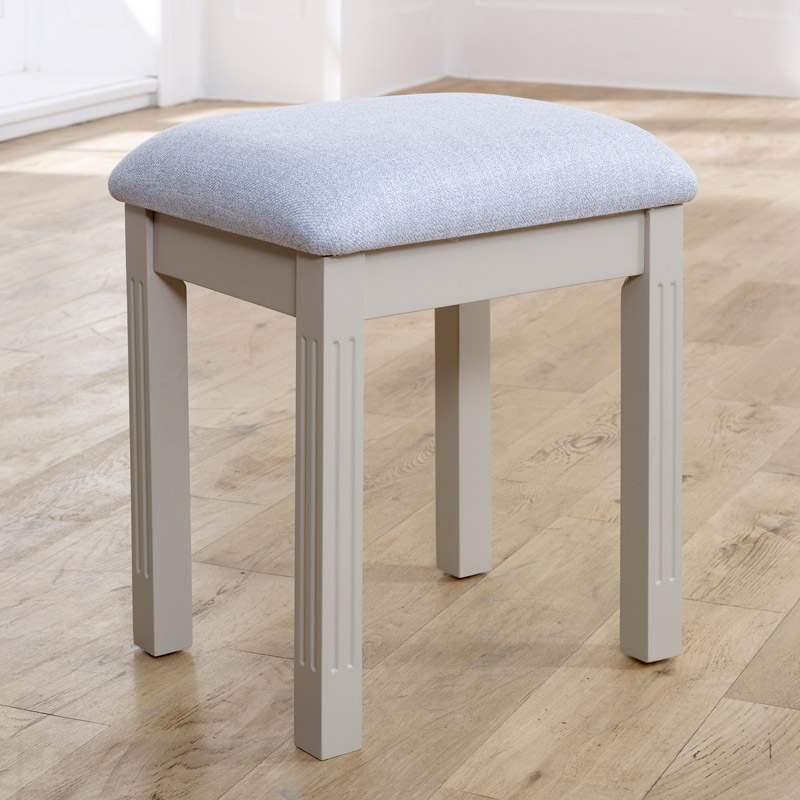 Taupe-Grey Dressing Table Stool - Davenport Taupe-Grey Range
