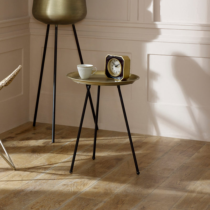 Tall Gold Metal Side Table