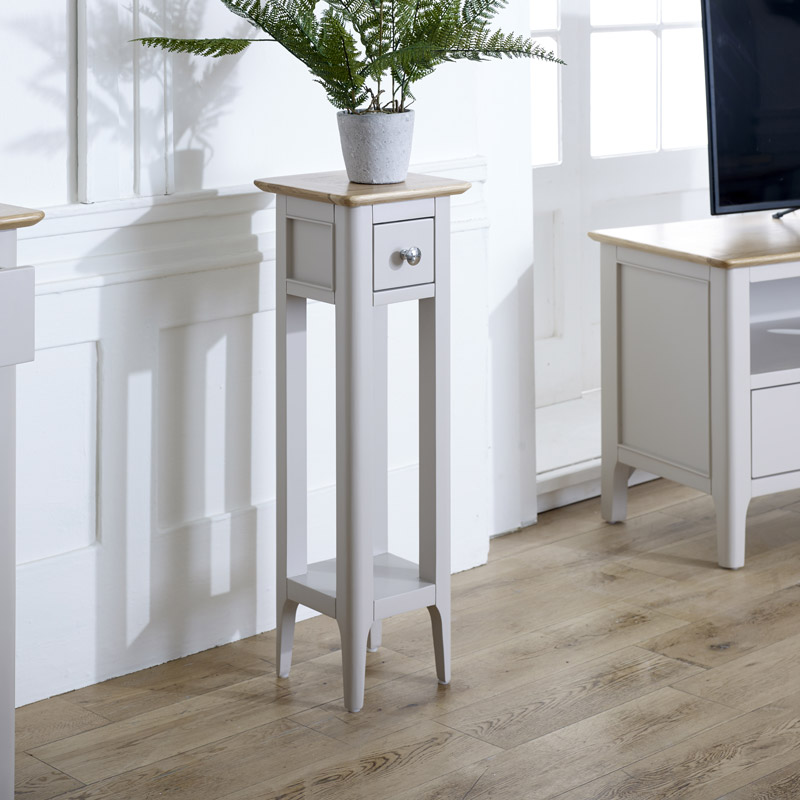 Slim Grey Lamp Table - Devon Range