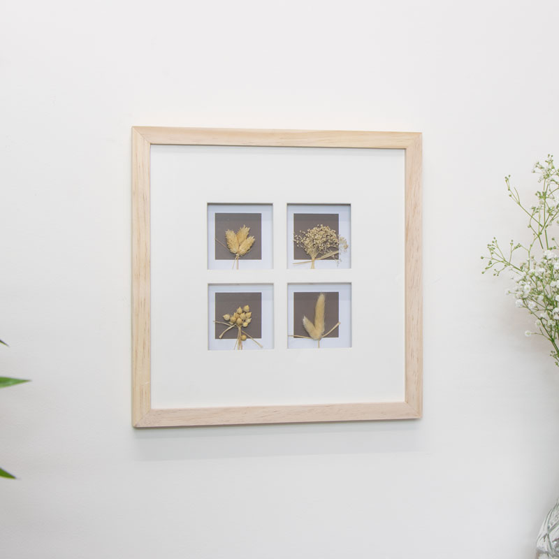 Framed Dried Flowers Picture