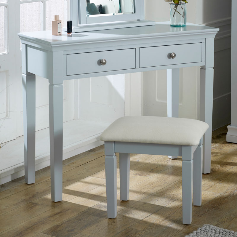 Grey 2 Drawer Console / Dressing Table - Newbury Grey Range