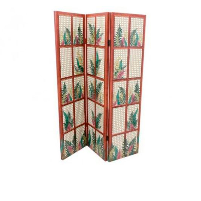 Fern Printed Wooden Room Screen