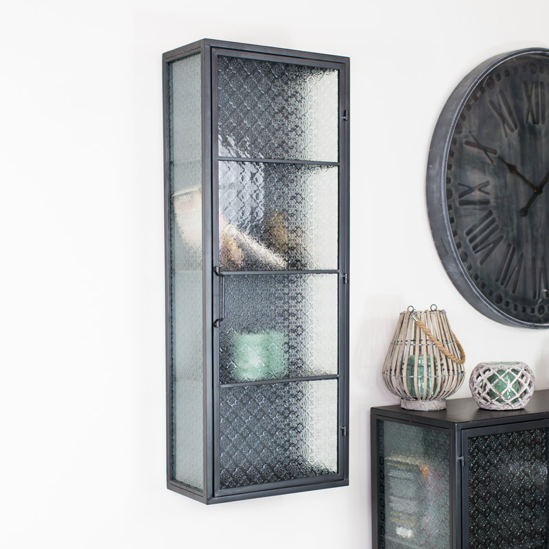 Industrial Metal & Glass Wall Unit