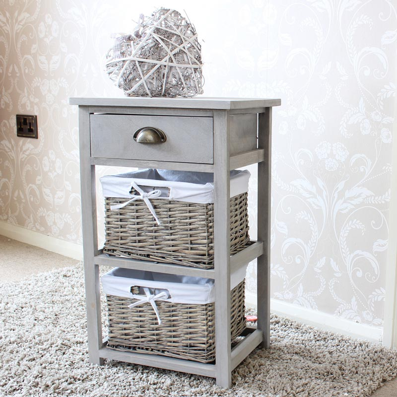 Buy Wicker Storage Basket Kitchen Drawer Style From The: One Drawer With Two Wicker Baskets