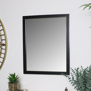 Black & Gold Rectangle Wall Mirror