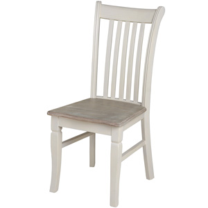 Cream Wooden Dining Chair - Lyon Range