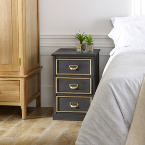 Black Bedside Table - Seattle Range