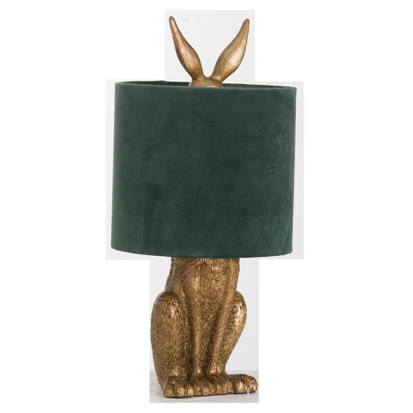 Antique Gold Hare Table Lamp