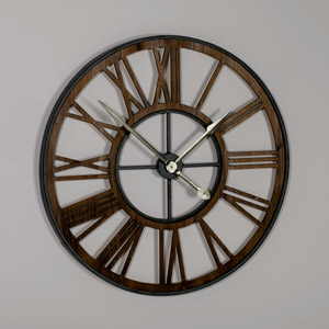 Large Rustic Skeleton Wall Clock
