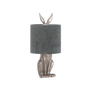 Antique Silver Hare Table Lamp