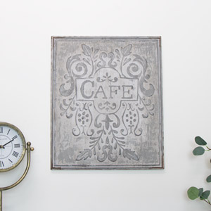 Vintage Cafe Wall Plaque