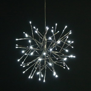 Silver LED Star