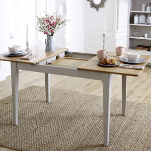 Grey Extending Dining Table - Devon Range