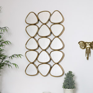 Large Gold Multi Sectional Mirror