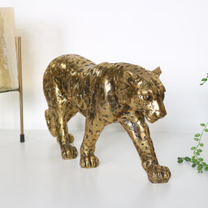 Gold Leopard Ornament