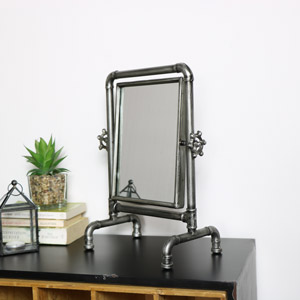 Industrial Tabletop Vanity Mirror 28cm x 37cm