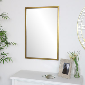 Gold Rectangle Wall Mirror 50cm x 75cm