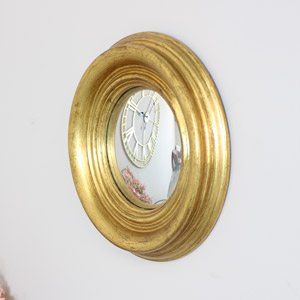 Small Round Gold Corvex Mirror