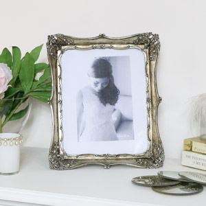 Antique Silver Ornate Photo Frame
