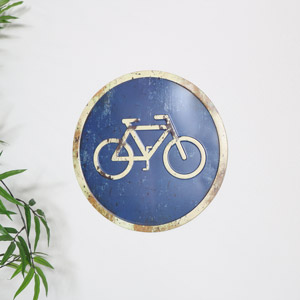 Rustic Metal Bikes Only Sign