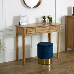 Oak Wood Console / Dressing Table - Oakley Range