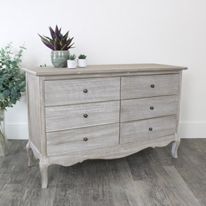 Large 6 Drawer Wooden Chest of Drawers - Temperley Range