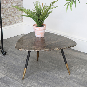 Brown Marble Side / Coffee Table